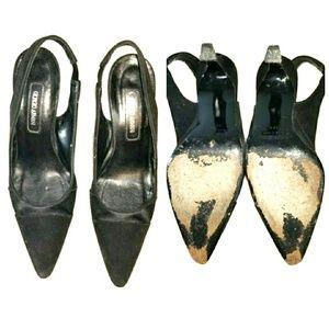 005adc9b133 Giorgio Armani Shoes - Giorgio Armani Black Suede Sling Back Pointed Toe